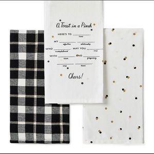 kate spade ♠️ 3-Pc. Towel Set ♠️ Toast In A Pinch